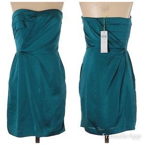NWT BCBGeneration Teal Strapless Dress SZ 0
